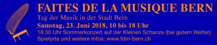 Faites de la Musique Bern 2018