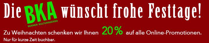 Über die Festtage 20% auf Online-Promotionen
